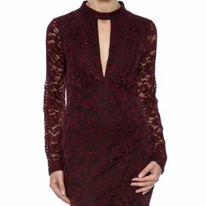 Lush sheer lace mini dress